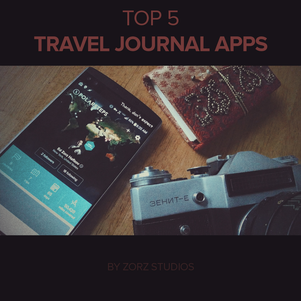 Photo Page: Top 5 Travel Journal Apps Review By Zorz Studios