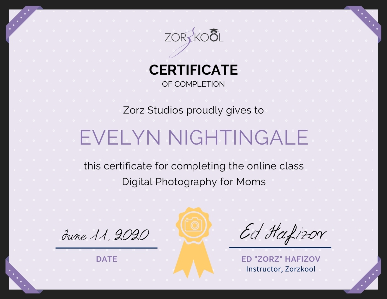 Digital Photography for Moms online class by Zorzkool (1)